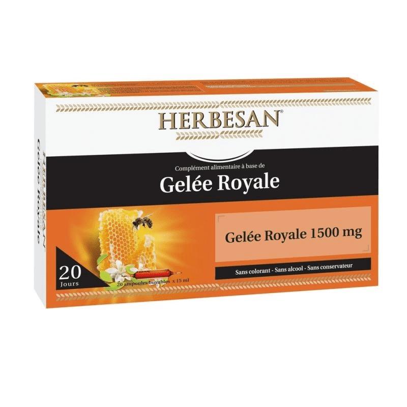 Super Diet Herbesan Gelée royale 1500 mg - 20 ampoules