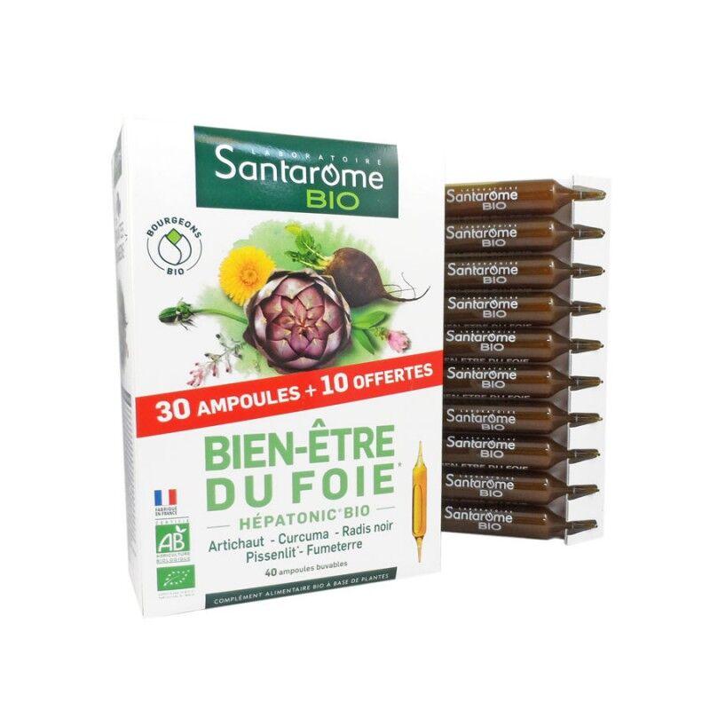 Forte Pharma Santarome Bio Bien-être du foie - 30 ampoules + 10 offertes