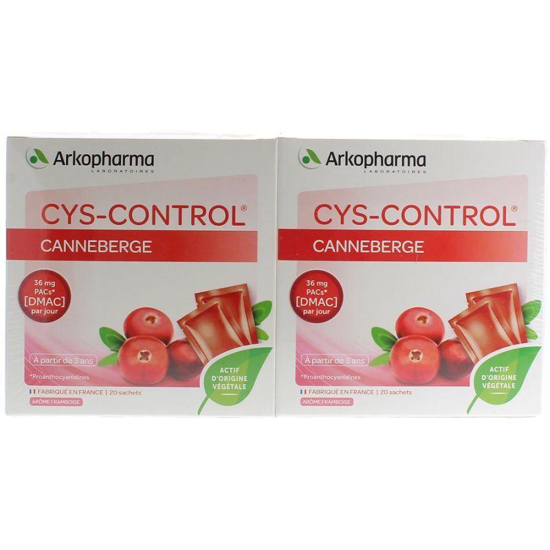 Arkopharma Cys-Control  20 Sachets Lot de 2 Boites