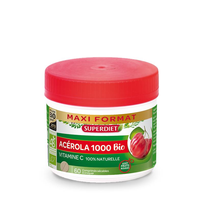 Super Diet Superdiet Acérola 1000 Bio - 60 comprimés