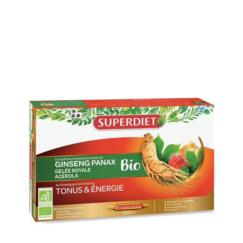 Super Diet Superdiet Ginseng gelée royale et acérola Bio - 20 ampoules