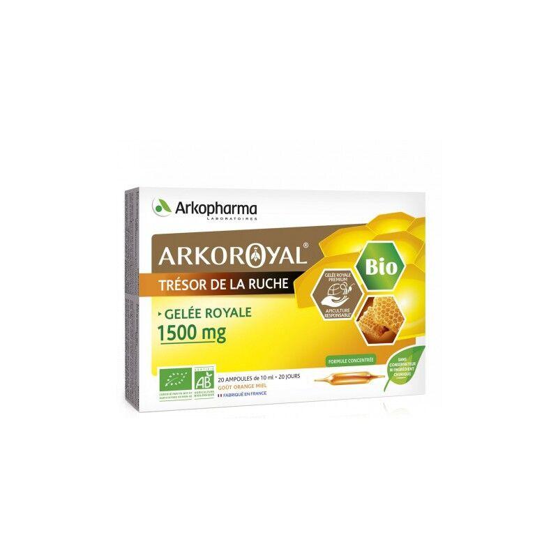 Arkopharma Arkoroyal Gelée royale 1500 mg Bio - 20 ampoules de 10ml