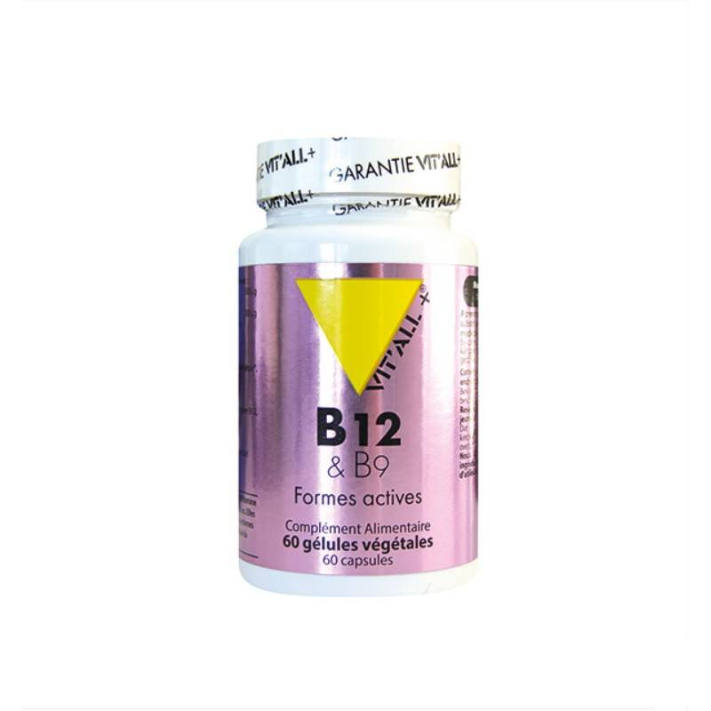 Vitall + Vitall+ Vitamines B12 & B9 - 60 gélules végétales