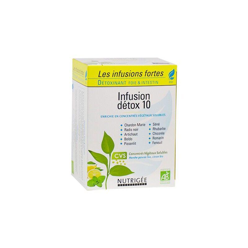 Nutrigée Infusion détox 10 plantes Bio - 30 sachets