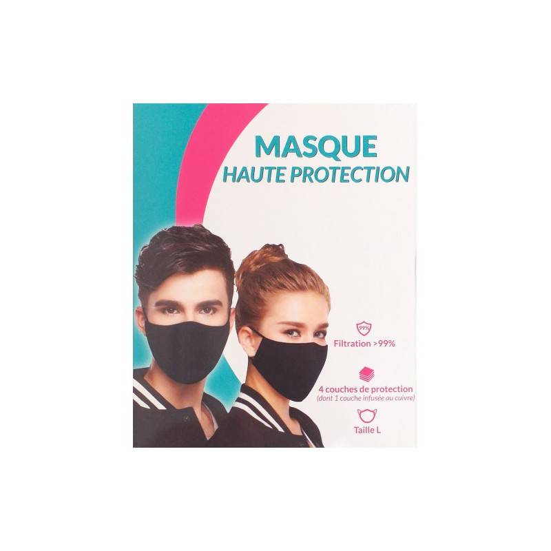 Pharma Nature Masque ffp2 cuivre haute protection taille L noir