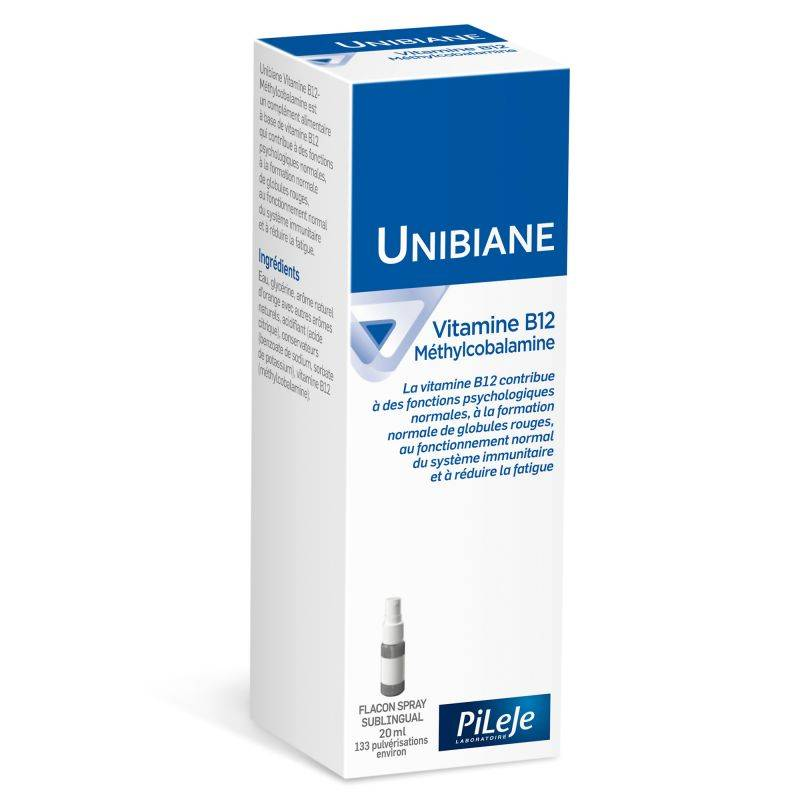 Pileje Unibiane vitamine B12 methylcobalamine - 20ml