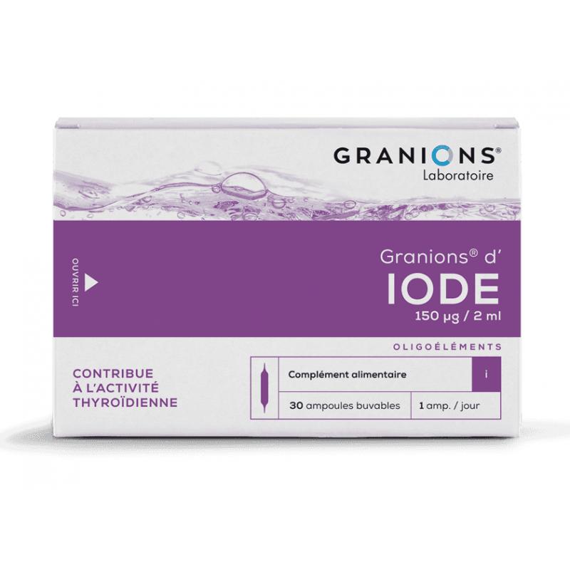 Laboratoire Granions Granions d'Iode 150mg/2ml - 30 ampoules