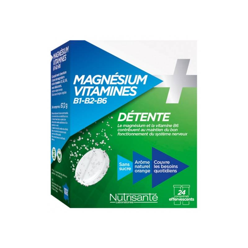 Nutrisanté Magnésium + Vitamines - 24 comprimés
