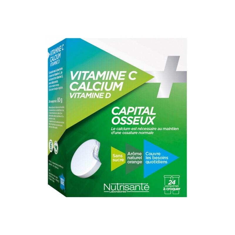 Nutrisanté Vitamine C + Calcium + Vitamine D - 24 comprimés