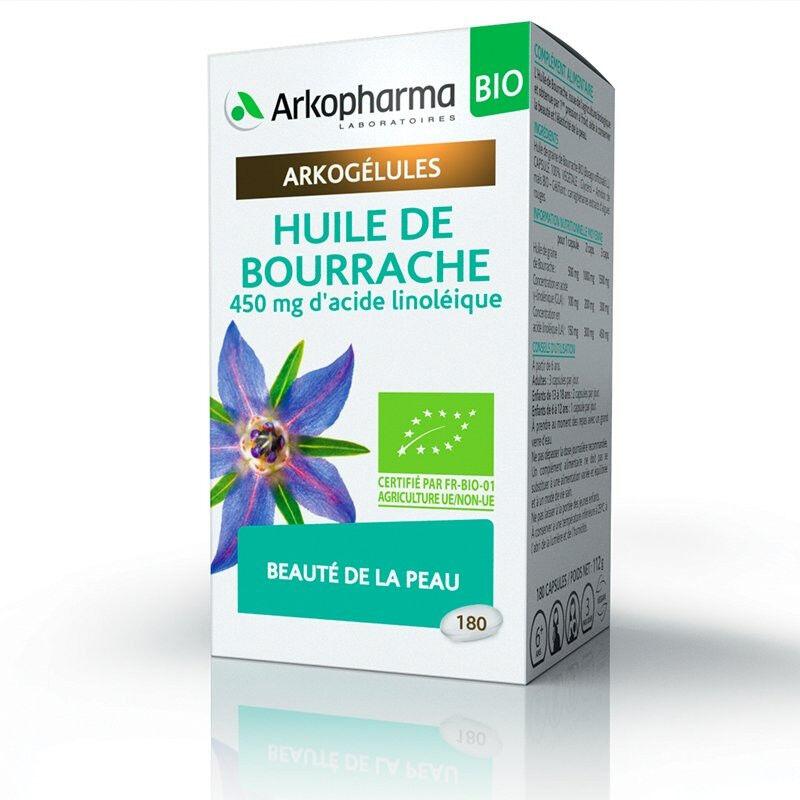 Arkopharma Arkogélules Huile de Bourrache Bio - 180 capsules
