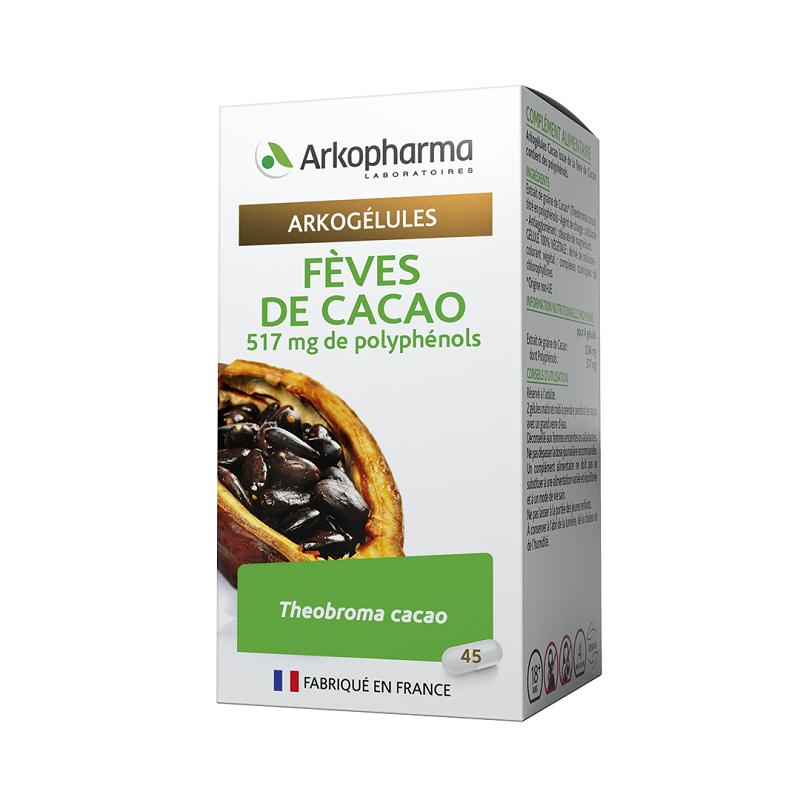Arkopharma Arkogélules Fèves de Cacao - 45 gélules