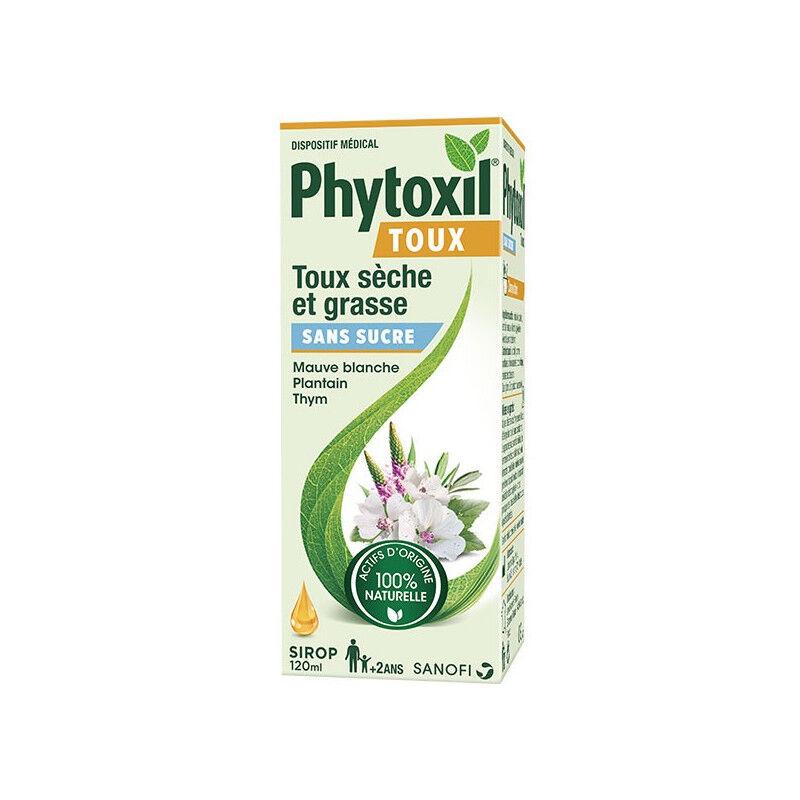 Sanofi Phytoxil Sirop toux sèches et grasses sans sucre - 120ml