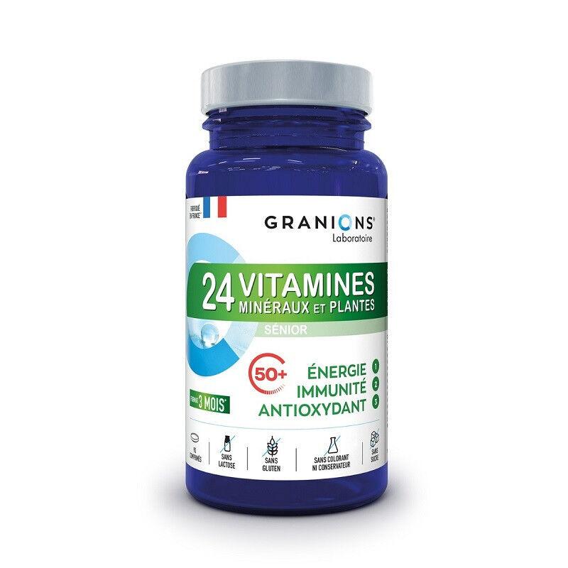 Laboratoire Granions Granions 24 Vitamines minéraux et plantes - 90 comprimés