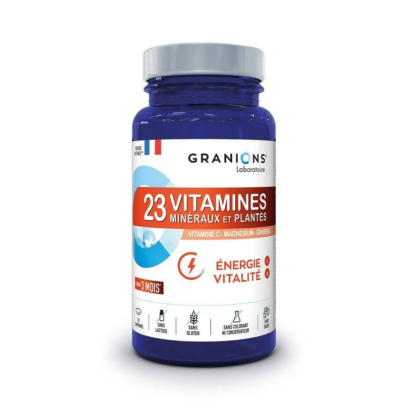 Laboratoire Granions Granions 23 Vitamines minéraux et plantes - 90 comprimés