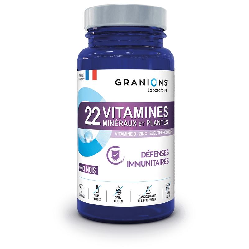 Laboratoire Granions Granions 22 Vitamines minéraux et plantes - 90 comprimés