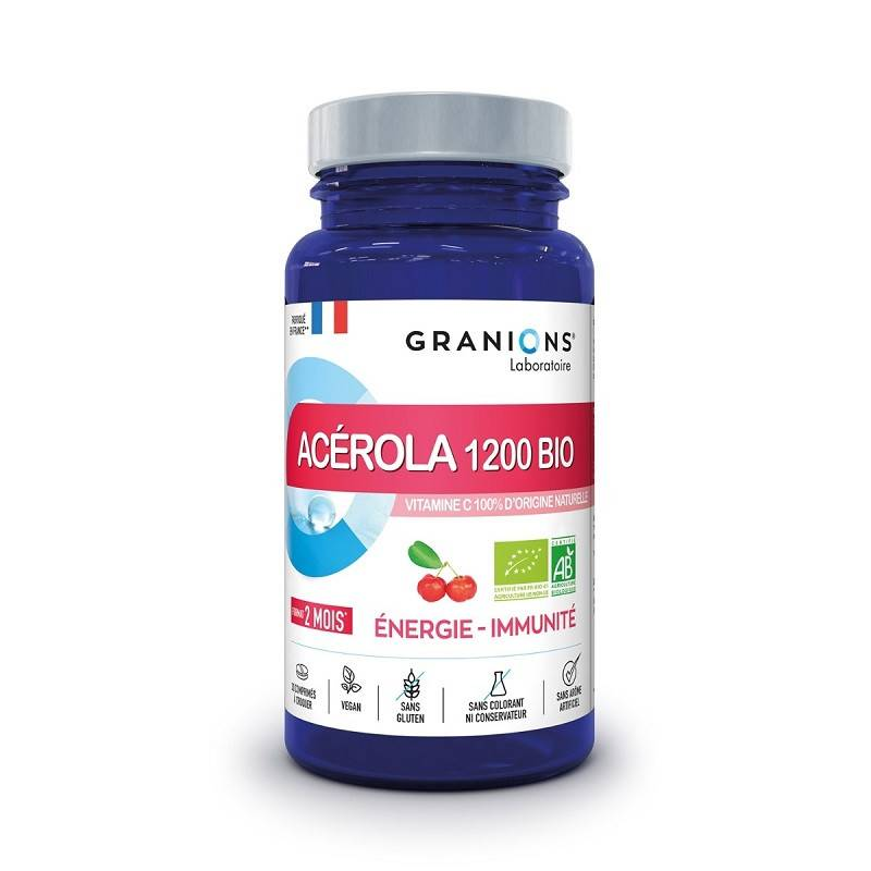 Laboratoire Granions Granions Acérola 1200 Bio - 30 comprimés à croquer