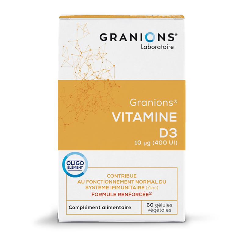 Laboratoire Granions Granions Vitamine D3 - 60 gélules