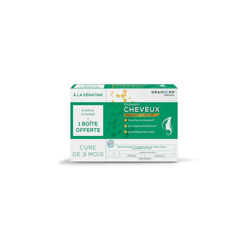Laboratoire Granions Granions Cheveux - Lot de 3 boîtes de 90 gélules