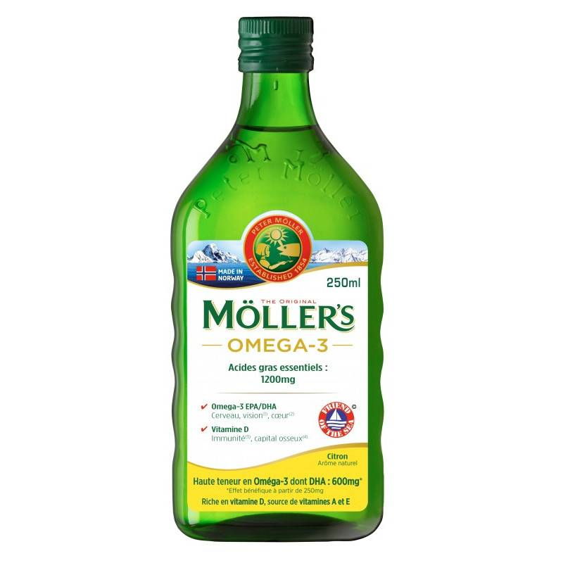 Uberti Möller's Omega-3 Huile de foie de morue arôme citron - 250ml