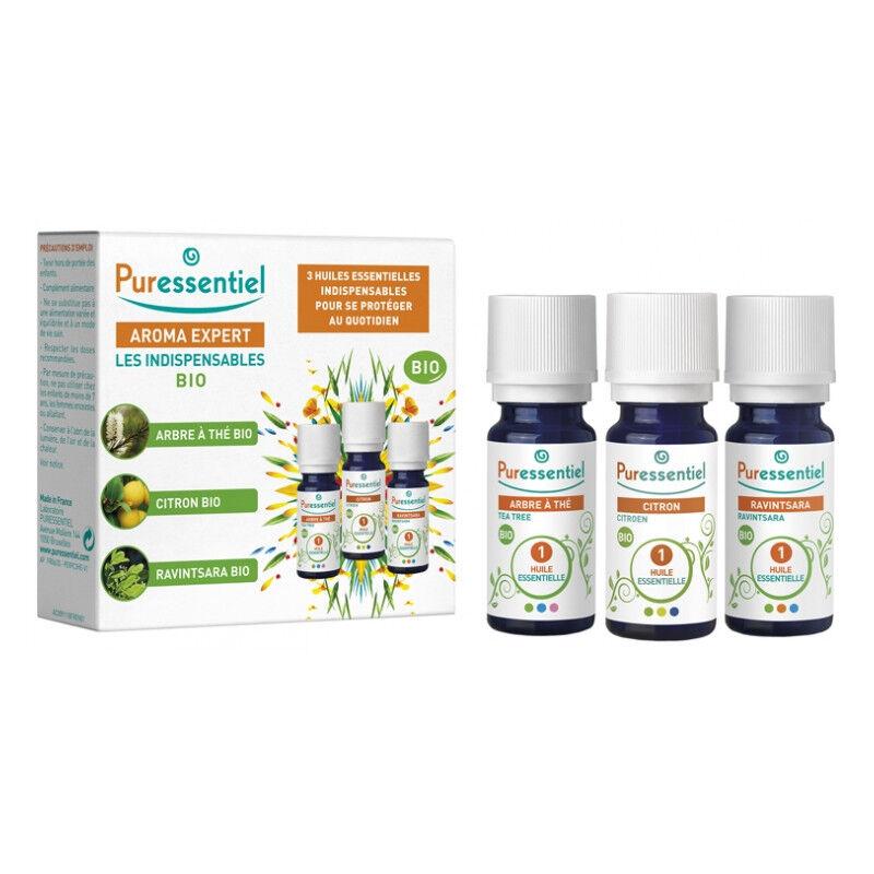 Puressentiel Aroma Expert Coffret Les Indispensables - 3 huiles essentielles Bio