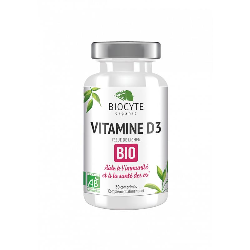 Biocyte Vitamine D3 Bio - 30 comprimés