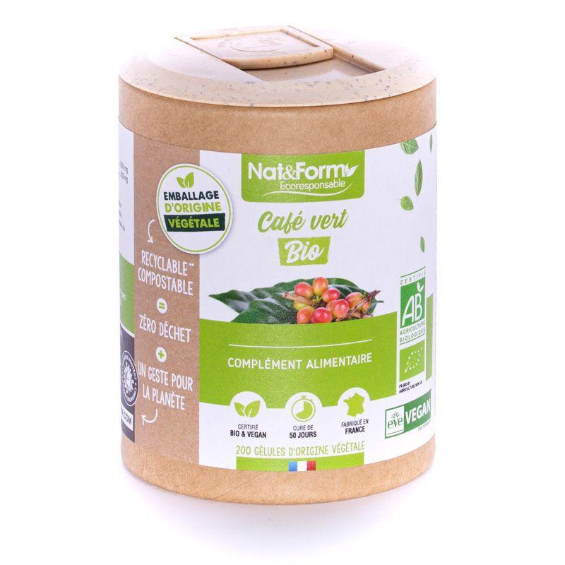 Atlantic Nat&Form Ecoresponsable Café Vert Bio - 200 gélules