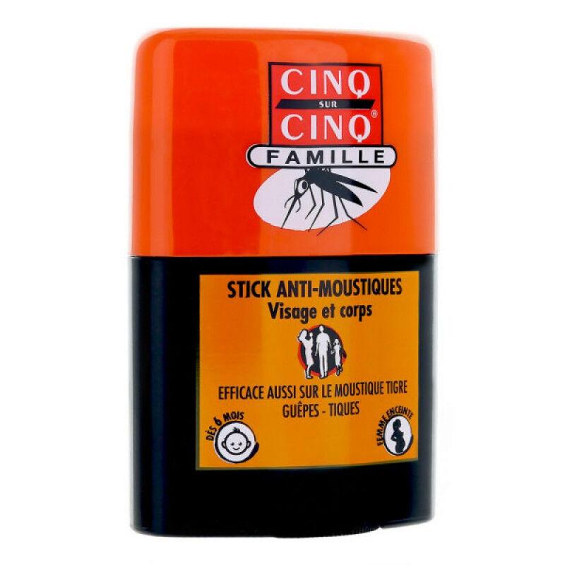 Cinq sur Cinq Stick famille Anti-moustiques visage et corps - 20ml