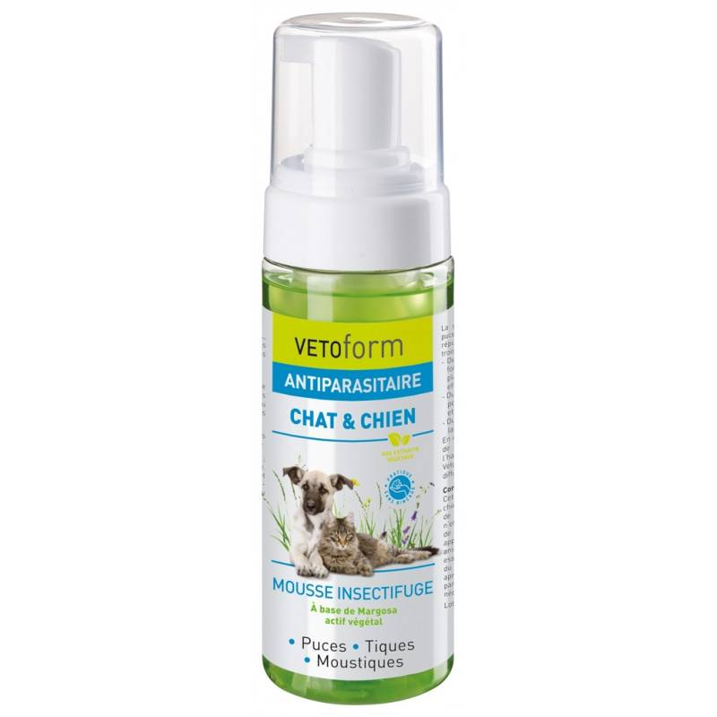 Vetoform Antiparasitaire Mousse insectifuge chat et chien - 150ml