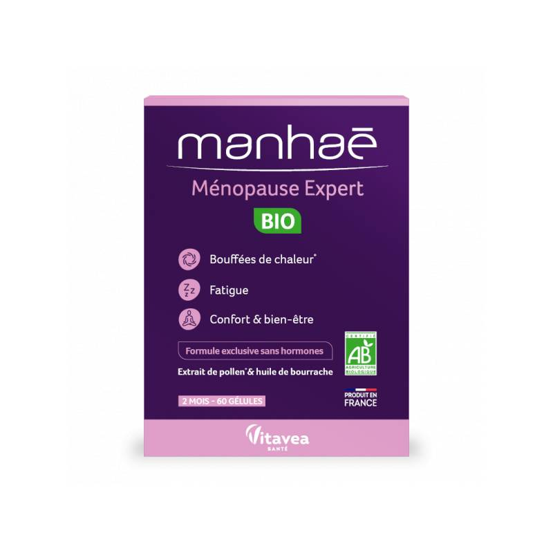 Nutrisanté Manhaé Ménopause expert Bio - 60 gélules