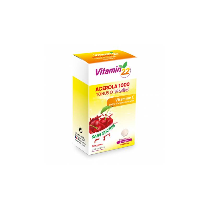 Ineldéa Ineldea Vitamin'22 Acérola 1000 - 24 comprimés à croquer