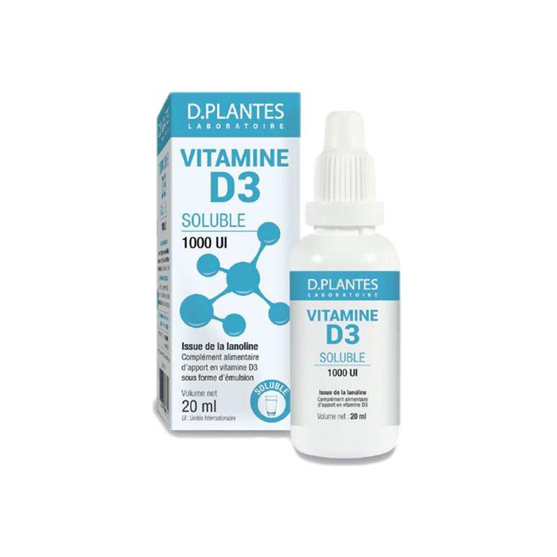 D.Plantes laboratoires D.Plantes Vitamine D3 soluble 1000 UI - 25ml