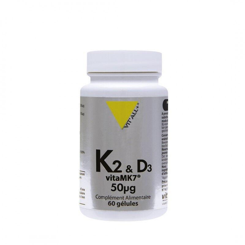 Vitall + Vitall+ Vitamine K2-D3 - 60 gélules