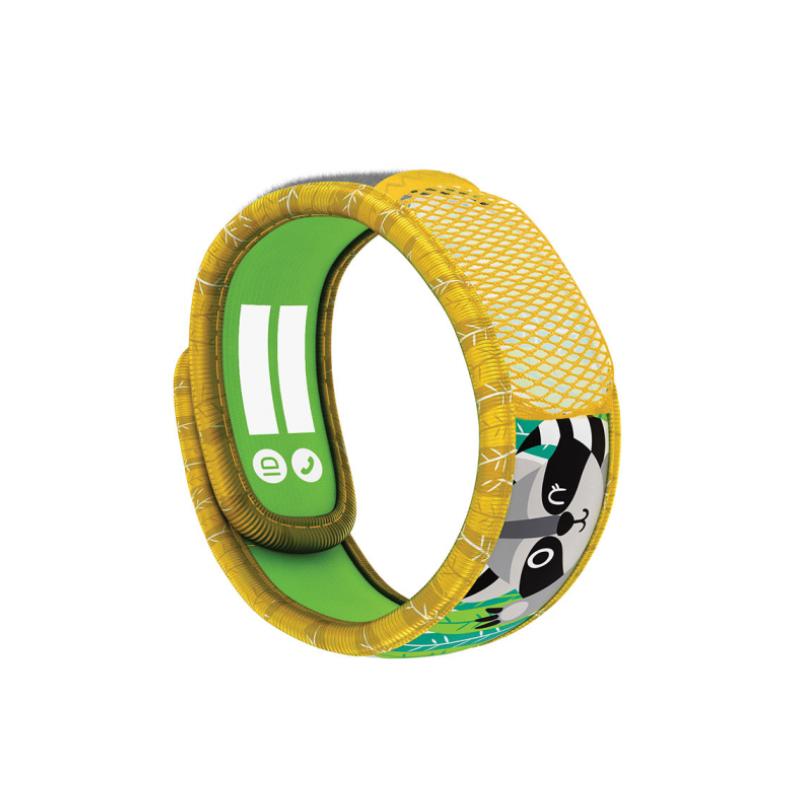 Parakito Kids Bracelet anti-moustiques Racoon + 2 recharges