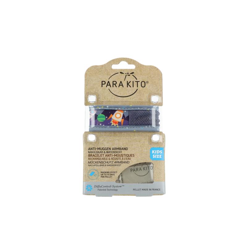 Parakito Kids Bracelet anti-moustiques Space + 2 recharges