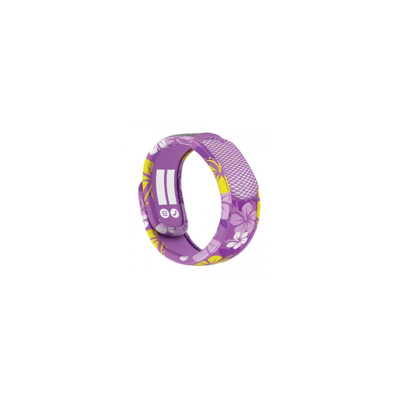 Parakito Kids Bracelet anti-moustiques Purple Hawaï + 2 recharges