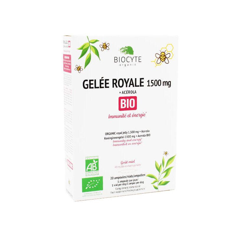 Biocyte Gelée Royale 1500 mg Bio - 20 ampoules