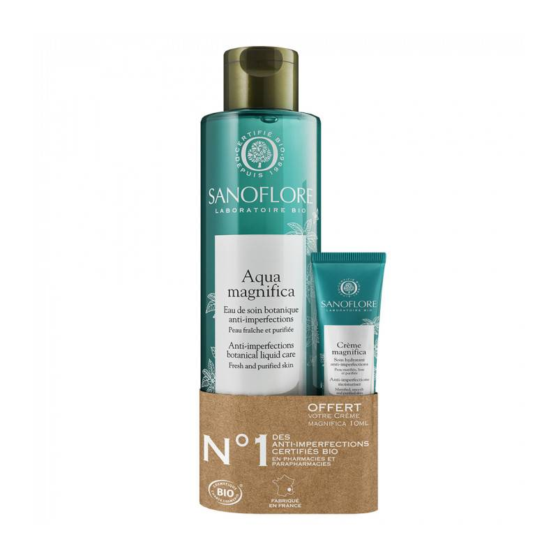 Sanoflore Aqua Magnifica Eau de Soin Botanique Bio 200ml + Crème hydratante offerte 10ml