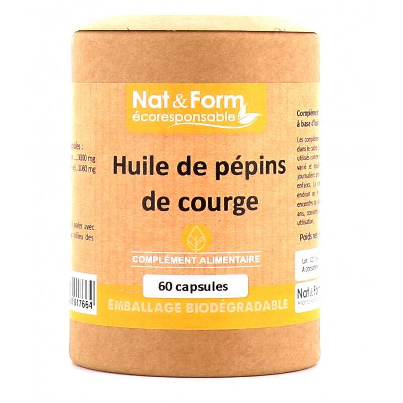 Atlantic Nat&Form Huile de pépins de courge - 60 capsules