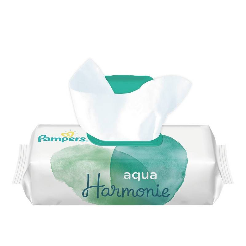 Procter&Gamble Pampers Aqua Harmonie Lingettes imprégnées x 48