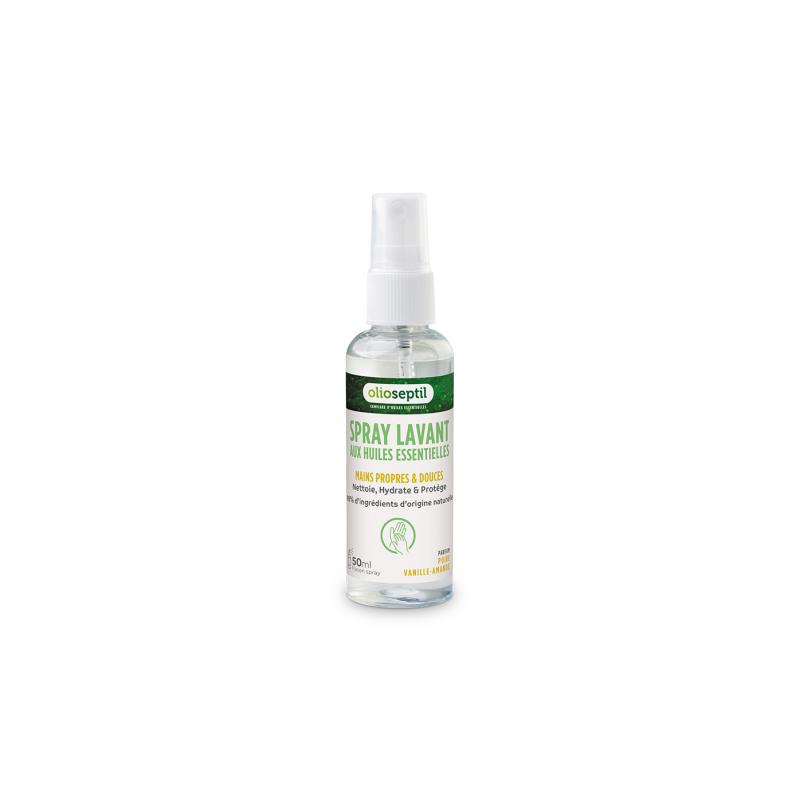 Ineldéa Ineldea Olioseptil Spray lavant aux huiles essentielles poire vanille et amande - 50ml