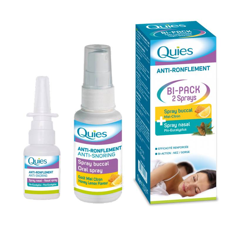 Quies Anti-ronflement spray buccal 70ml + Spray nasal 15ml