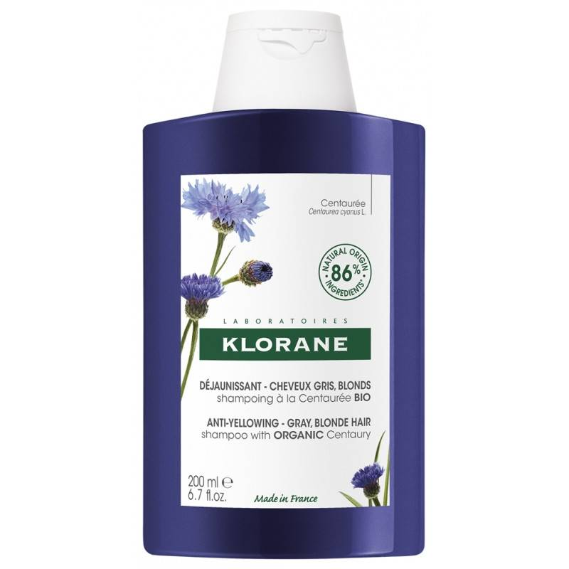 Klorane Shampoing déjaunissant à la Centaurée Bio - 200ml