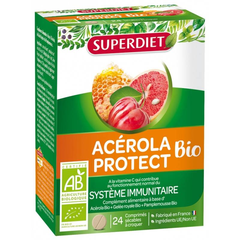 Super Diet Acérola Protect Bio - 24 comprimés