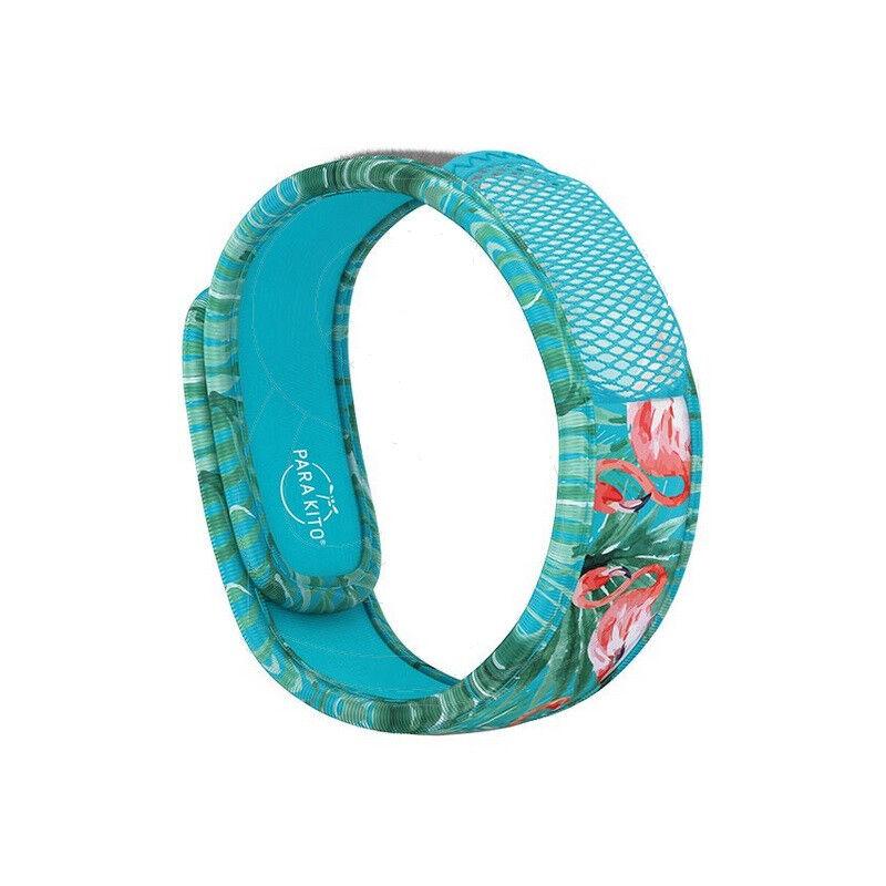 Parakito Bracelet anti-moustiques Graffic Blue Flamingo + 2 recharges