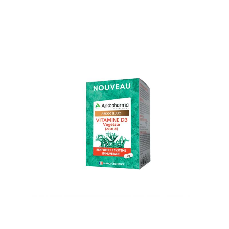 Arkopharma Arkogélules Vitamine D3 Végétale - 90 comprimés