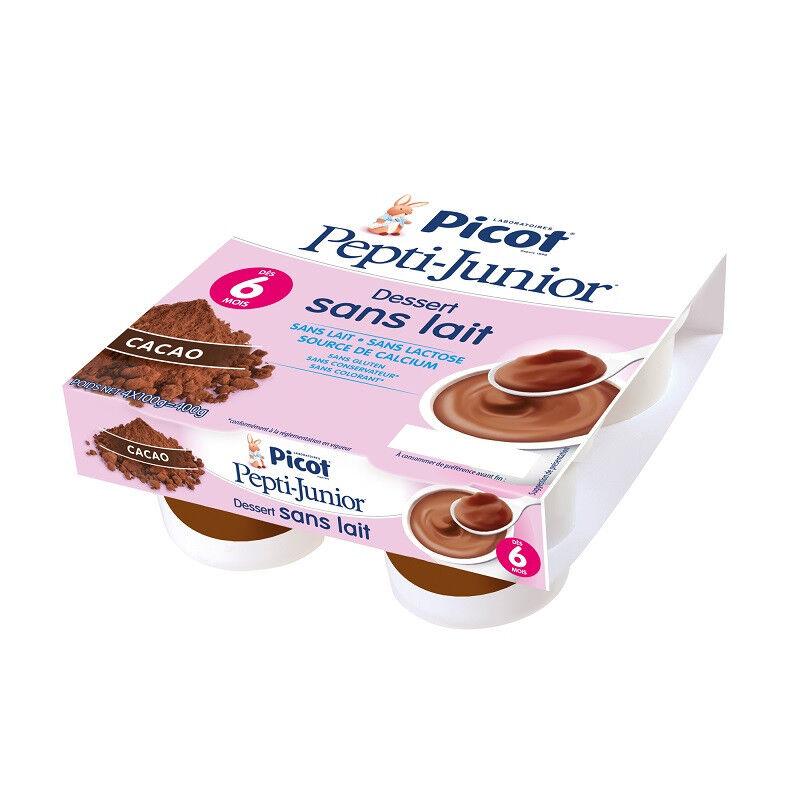 Picot Pepti Junior Dessert sans lait cacao dès 6 mois x 4