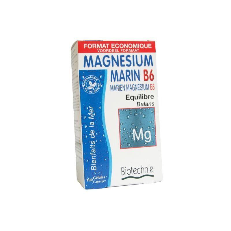 biotechnie Magnésium marin B6 lithothamne - 100 gélules Biotechnie