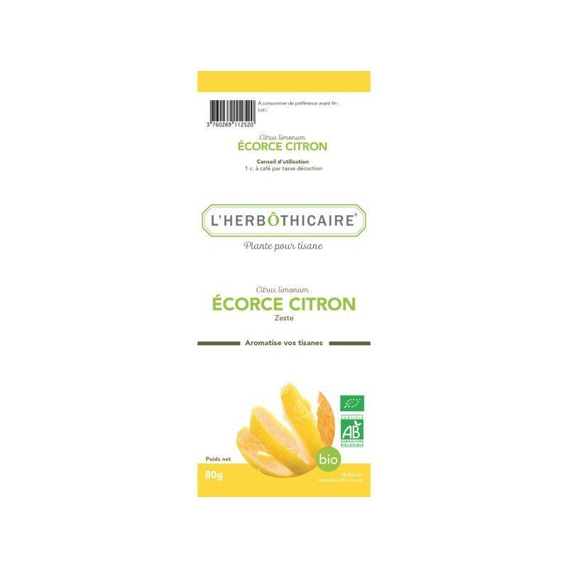 L'herboticaire L'herbôthicaire tisane écorce de citron bio 80g