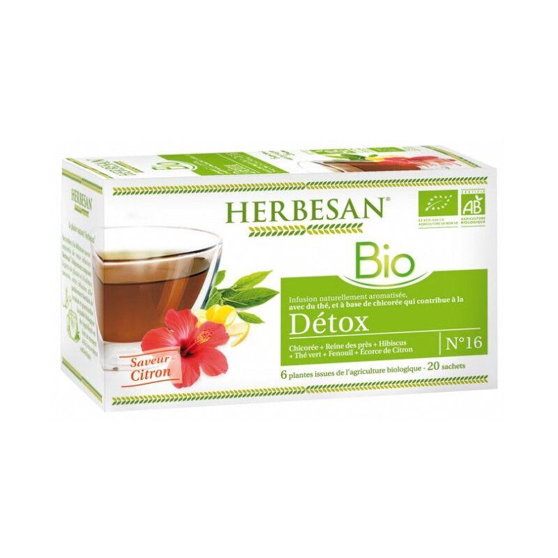 Super Diet Herbesan Infusion Détox saveur citron N°16 Bio - 20 sachets