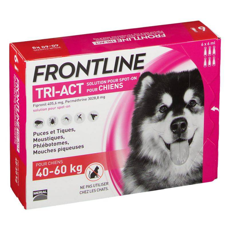 Frontline TRI-ACT Chiens +40kg 6 pipettes